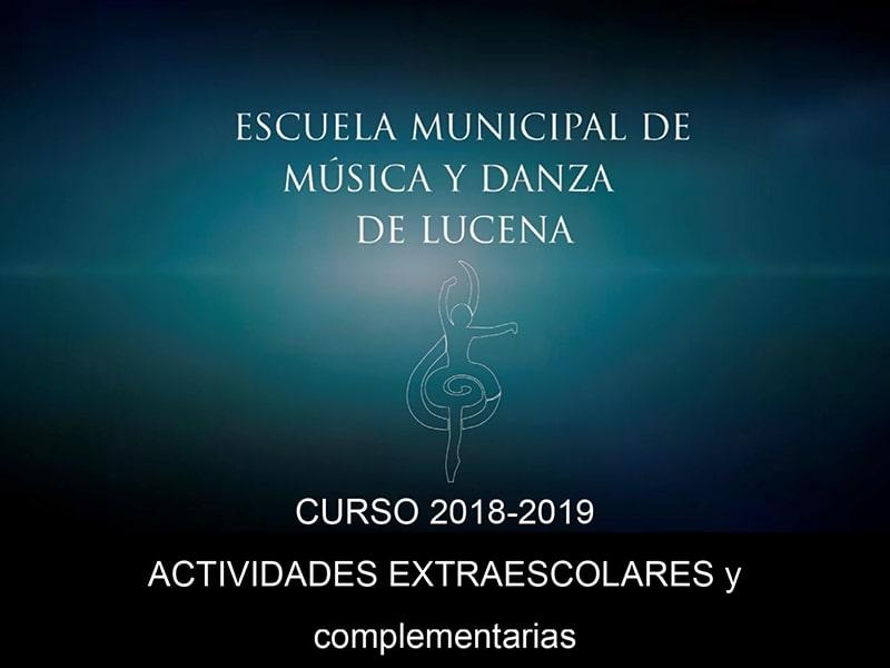 Actividades extraescolares 2018-2019 Escuela de Música y danza Lucena