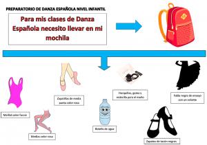 Mochila preparatorio danza española infantil